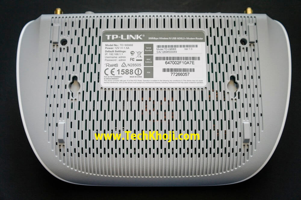 Back side of TP-Link Router