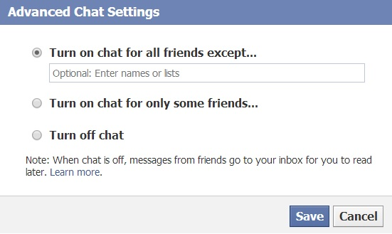 Advance Chat Settings