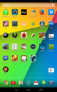 Android Jelly Bean Home Screen
