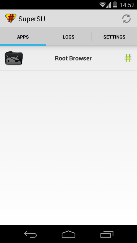 Nexus 5 Rooting SuperSU