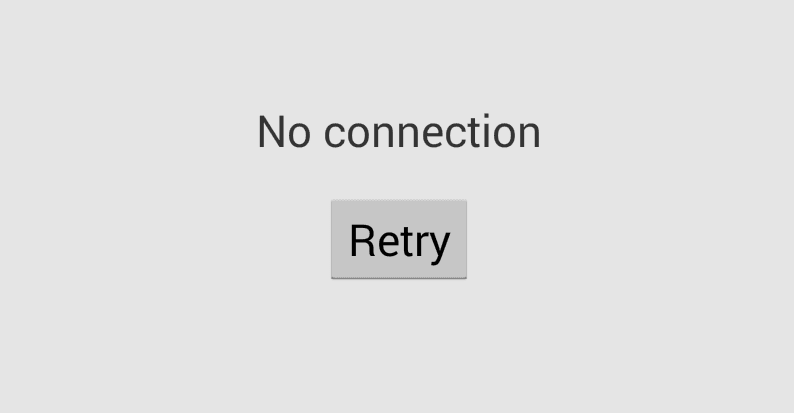 Google Play No Connection Retry Error