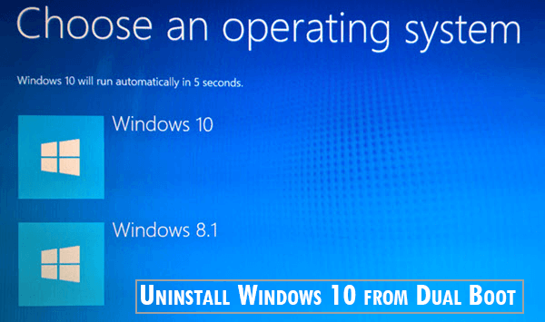Uninstall Windows 10 from Dual Boot