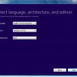 Selecting Window 10 Edition