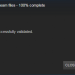 Steam File Validation Completed