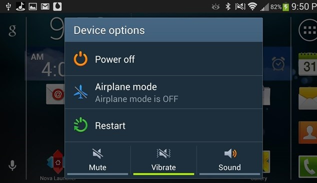 Airplane mode on Android