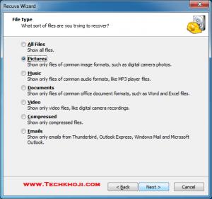 Recuva File type
