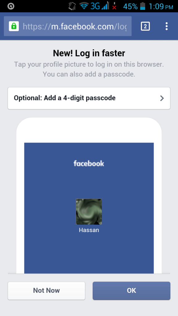 How to enable 4 digit passcode login on facebook mobile login your account 4 digit passcode facebook stopboris
