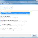 Dial-up Connection on Windows