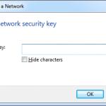 Enter Wireless Security Key Windows