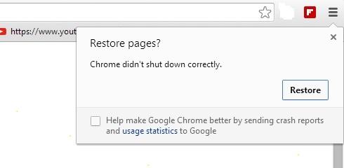 Google Chrome Crash Right Click