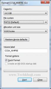 Windows Format Fat32