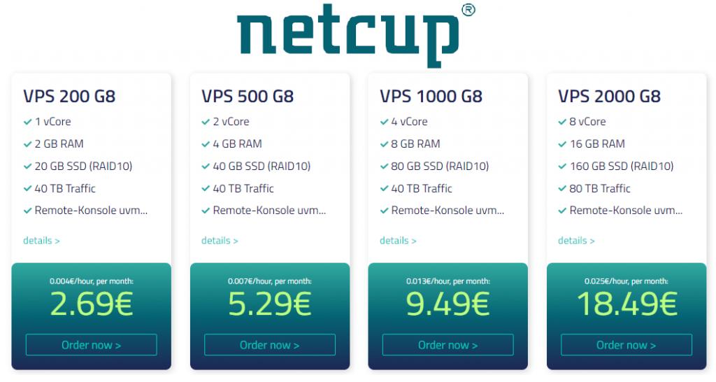 Netcup vServer Plans