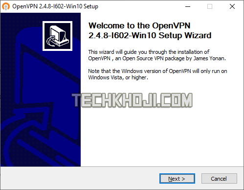 OpenVPN GUI Setup Wizard