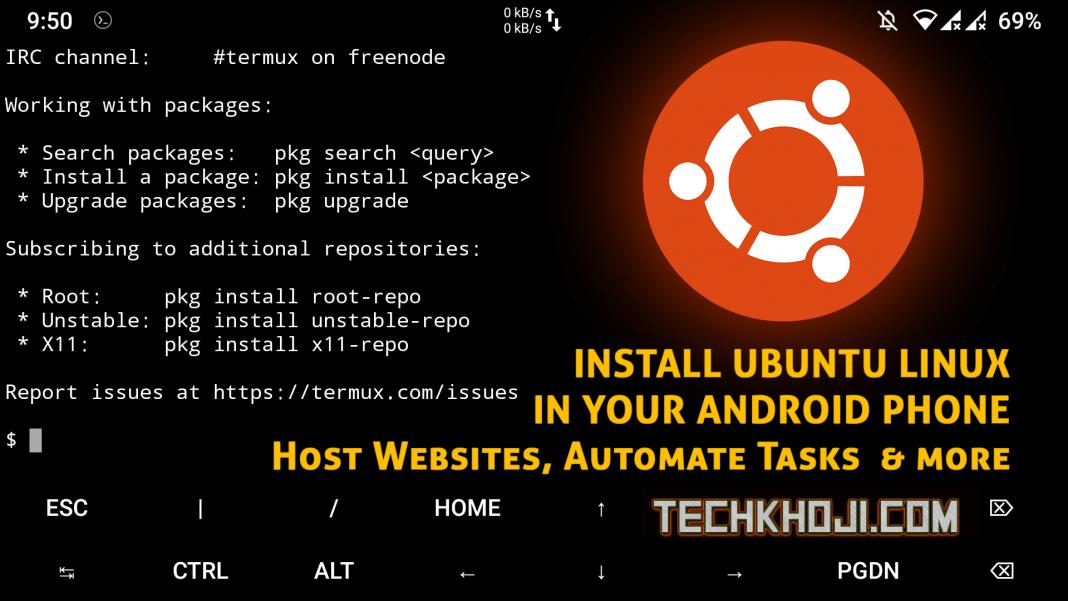 Install Ubuntu Linux in Termux Emulator Android